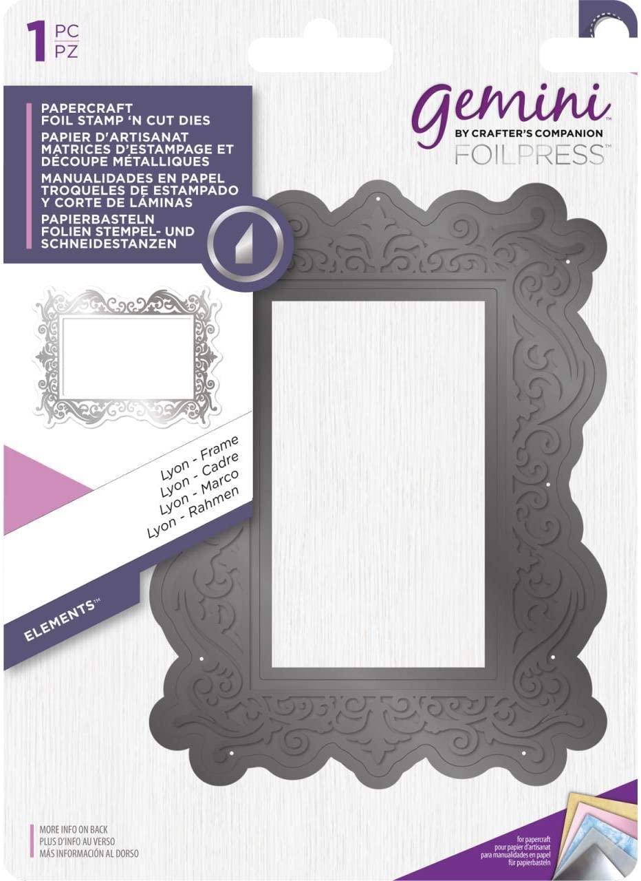 Gemini Foil Stamp N Cut Metal Die-Lyons Frame, Silver