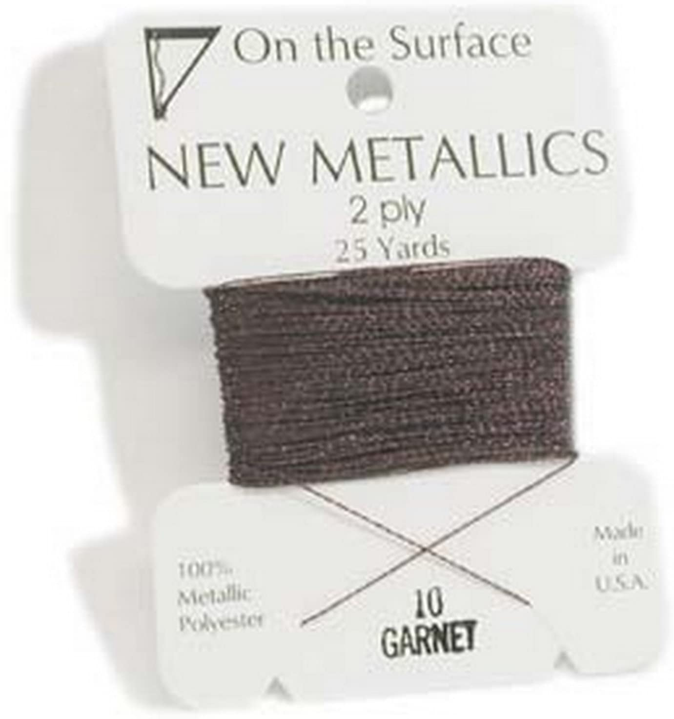 On The Surface - Metallic Garnet Thread - 25yds - By Stallings Stained Glass