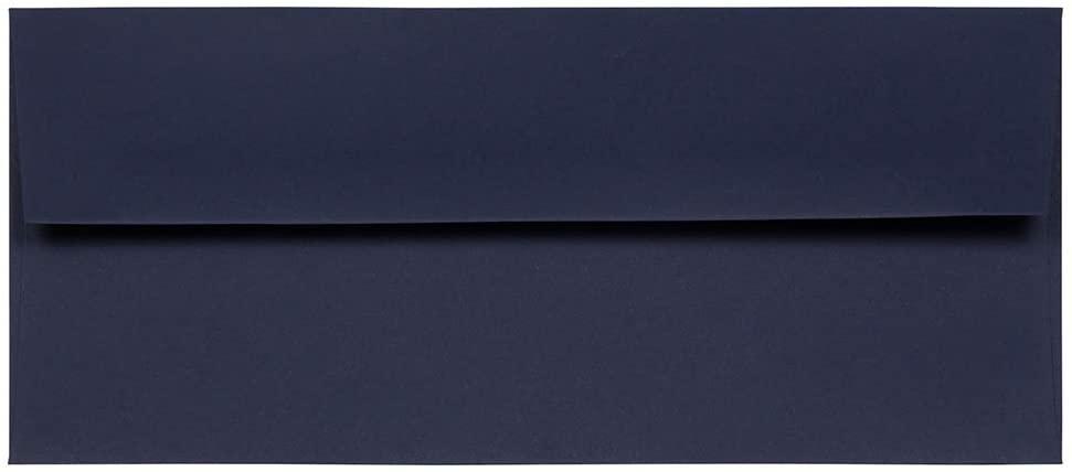 JAM PAPER #10 Business Premium Envelopes - 4 1/8 x 9 1/2 - Navy Blue - 50/Pack