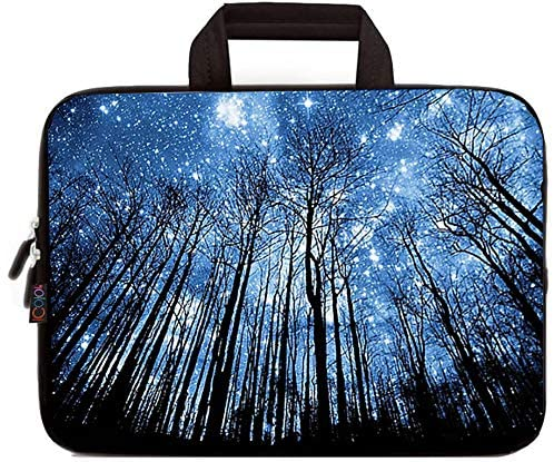 iColor 11.6 12 12.1 12.2 Inch Laptop Carrying Bag - Protective Notebook Sleeve Case - Travel Briefcase Pouch with Handle (Forest)