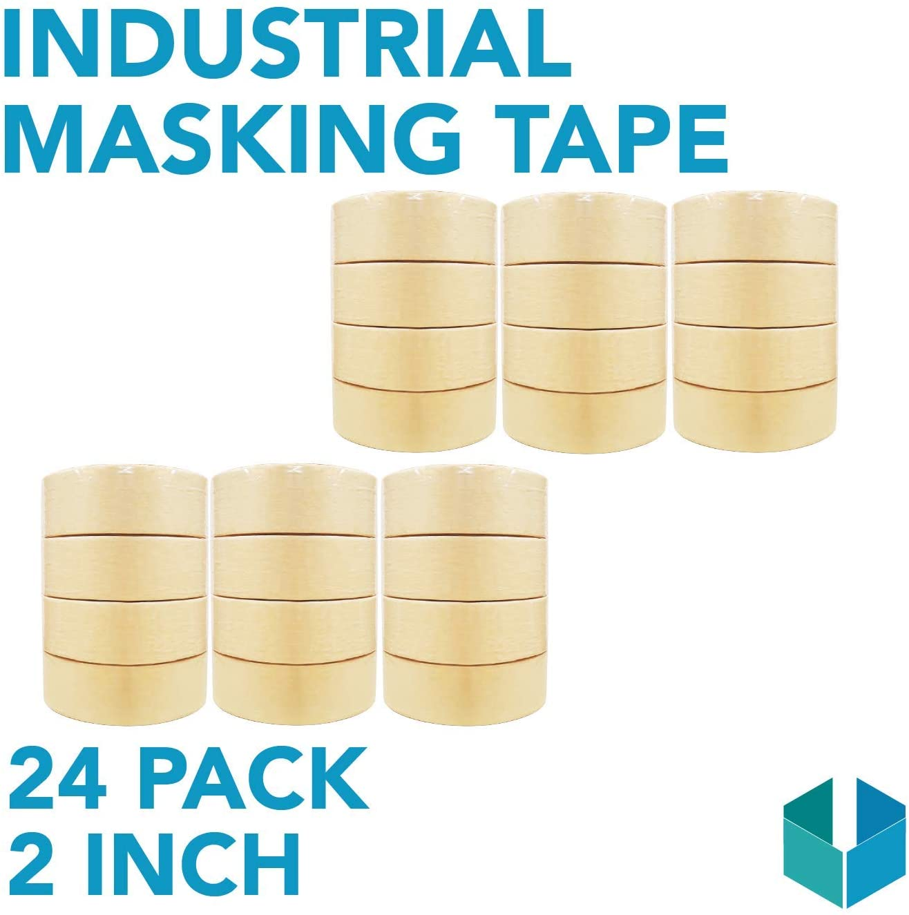 Industrial Masking Tape for General Purpose/Painting - CASE of 24-2