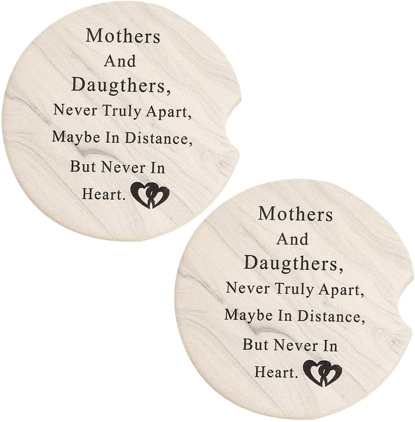 COFOZA Mother and Daughter Car Coasters