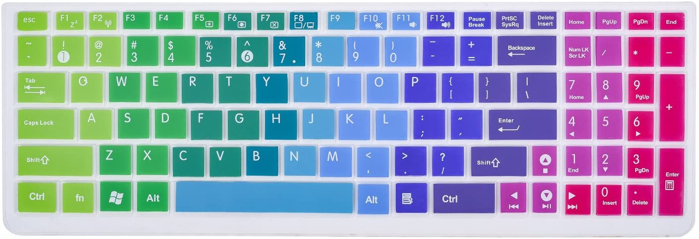CaseBuy Keyboard Cover for ASUS K501UX K501LX GL502VY GL502VT GL551 GL552VW GL552JX Q503UA Q552UB Q553UB Q524UQ Q534UX X540SA F554LA F555 F556UA R556LA N551JQ X550ZA X751LAV GL752VW(Rainbow)