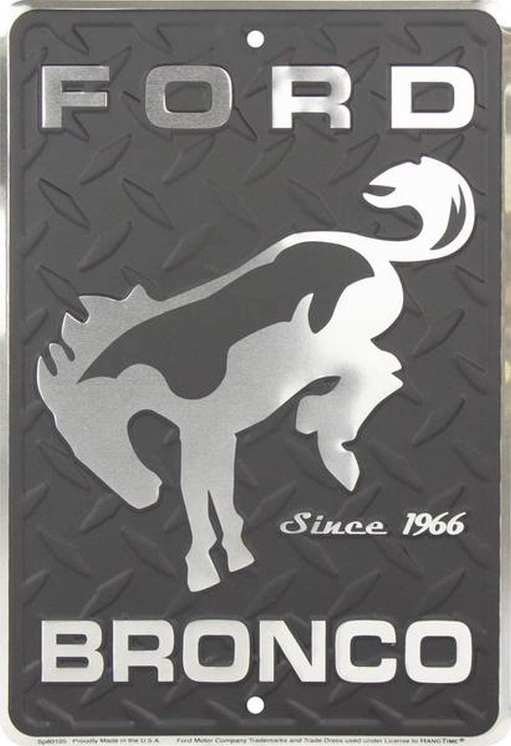 HangTime Ford Bronco Since 1966 8 x 12 inch Metal Sign