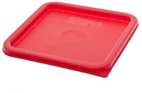 Cambro Medium Polyethylene Square Lids, fits 6 and 8 qt. containers, Pack of 3