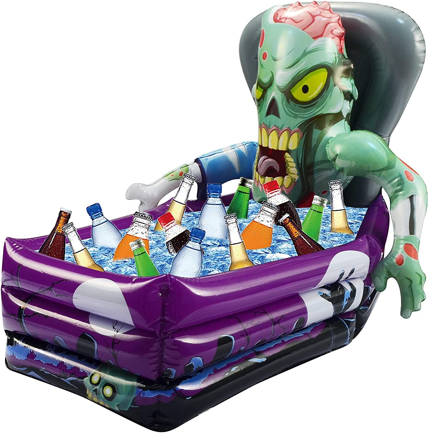 Halloween Party Inflatable Zombie Drink Cooler and Decoration (26x 24x 38 Approximate Inflated Size)