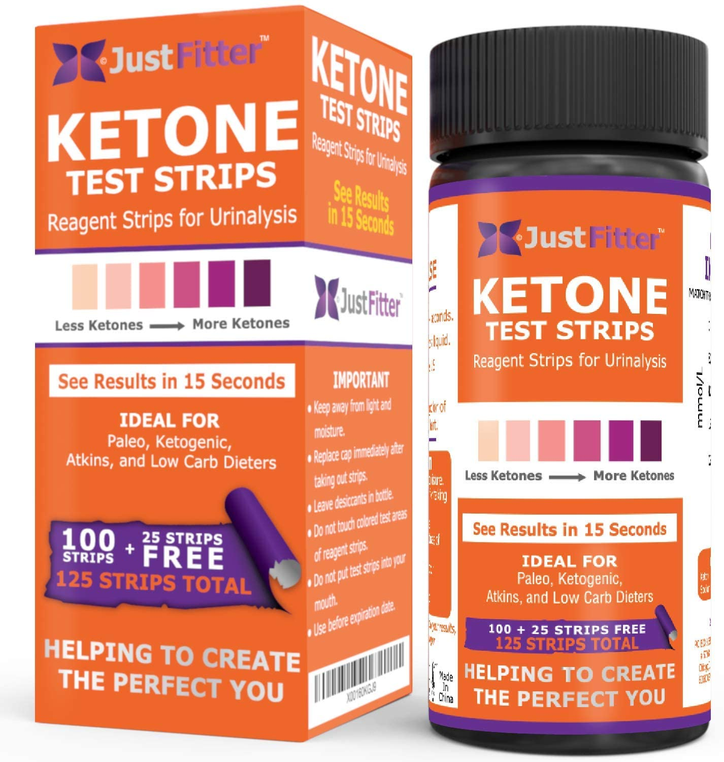 Ketone Keto Urine Test Strips. Look & Feel Fabulous on a Low Carb Ketogenic or HCG Diet. Get Your Body Back! Accurately Measure Your Fat Burning Ketosis Levels.