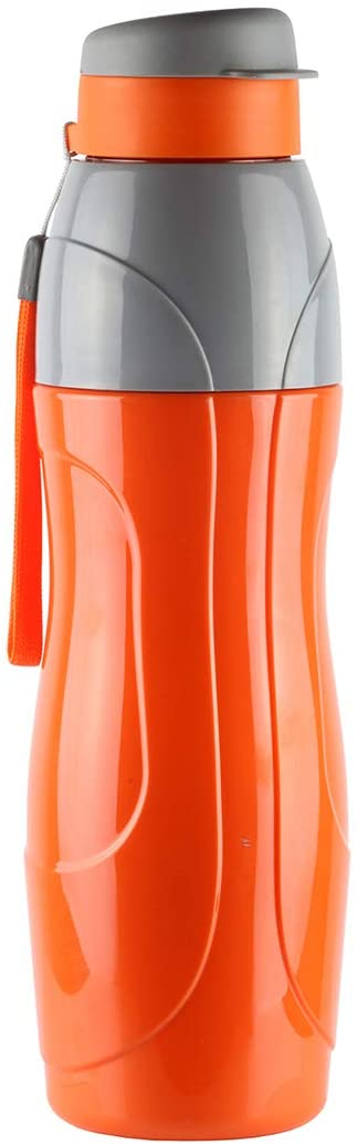 Cello Plastic Insulated BPA Free Leak Proof Water Bottle for Gym, Swimming, Running/Easy Carry Ergonomic Reusable Drinking Container with Wide Mouth and Easy Flip Top Cap - Puro Sports (20 Oz)