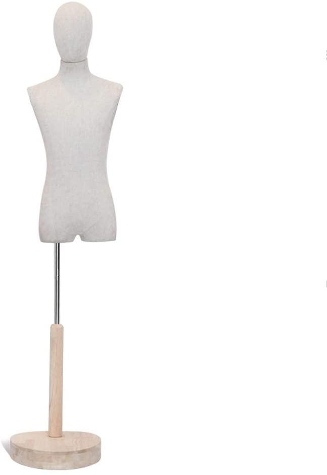JAD@ Men's Mannequins Clothing Store Model Props Retro Personality Korean Half-Length Male Model Window Display Man Platform Shooting Model Simple and Beautiful