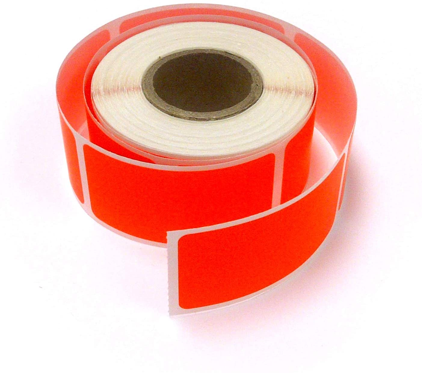 Next Day Labels, Rectangle Inventory Color Coding Labels, 250 Per Roll (Fluorescent Red, 2 X 1)