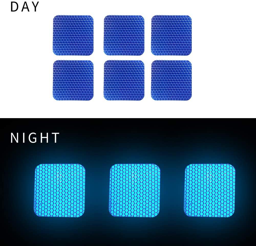 Square shape Reflective Tape Self Adhesive Warning Tape For Trucks Trailers Car Park Waterproof Self-Adhesive Trailer Reflector Tape-Reflective Tape 20 packs Blue