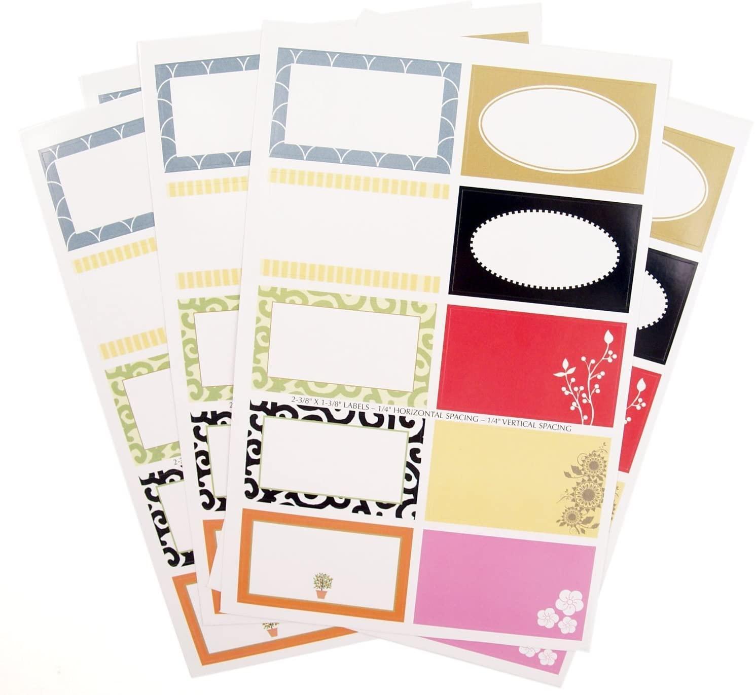 Rectangle Decorative Gift Label 50 Piece Assortment Set