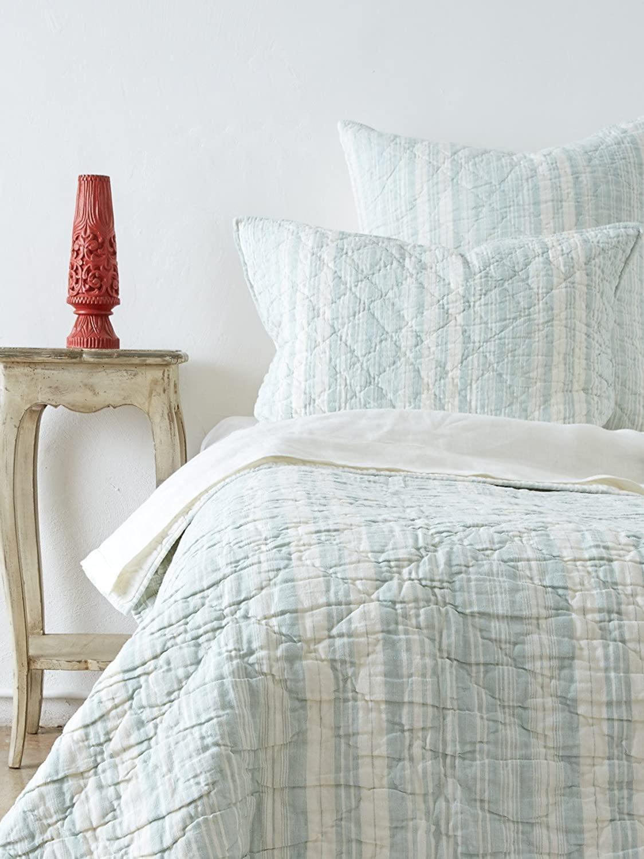 Amity Home Jacob Stripe Quilt Set, Twin, Sea Glass