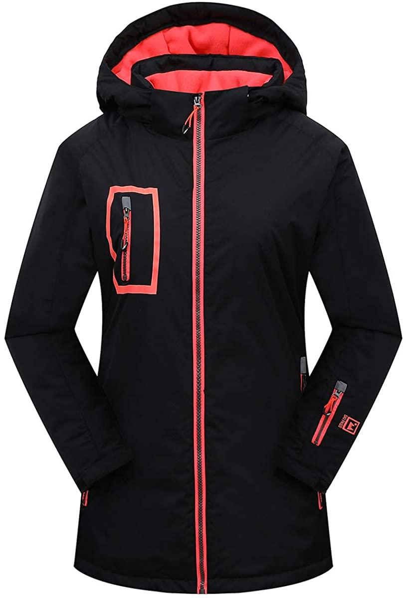 Victrax Women's Waterproof Ski Jacket Warm Windproof Hooded Snowboard Jacket