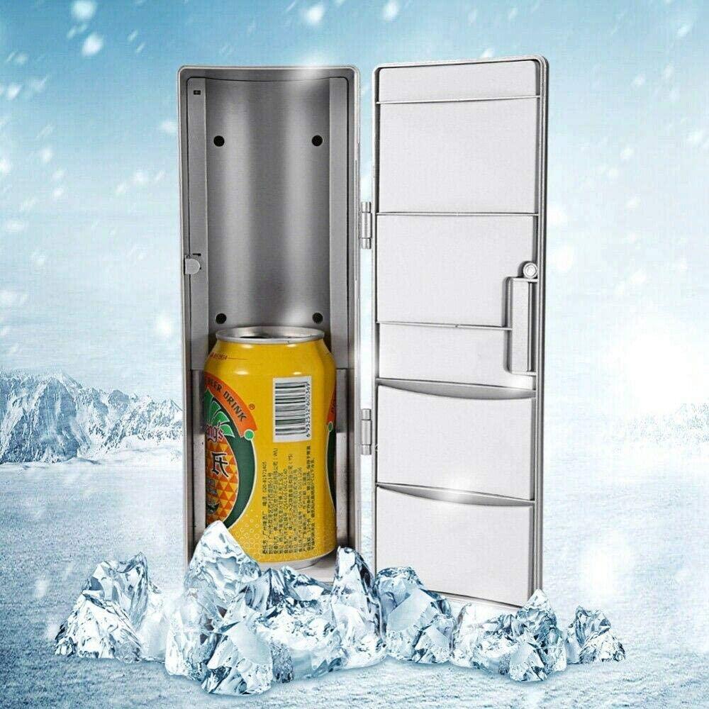 Compact Refrigerator, Portable Mini USB PC Car Fridge Freezer Refrigerator Cans Drink Cooler Warmer
