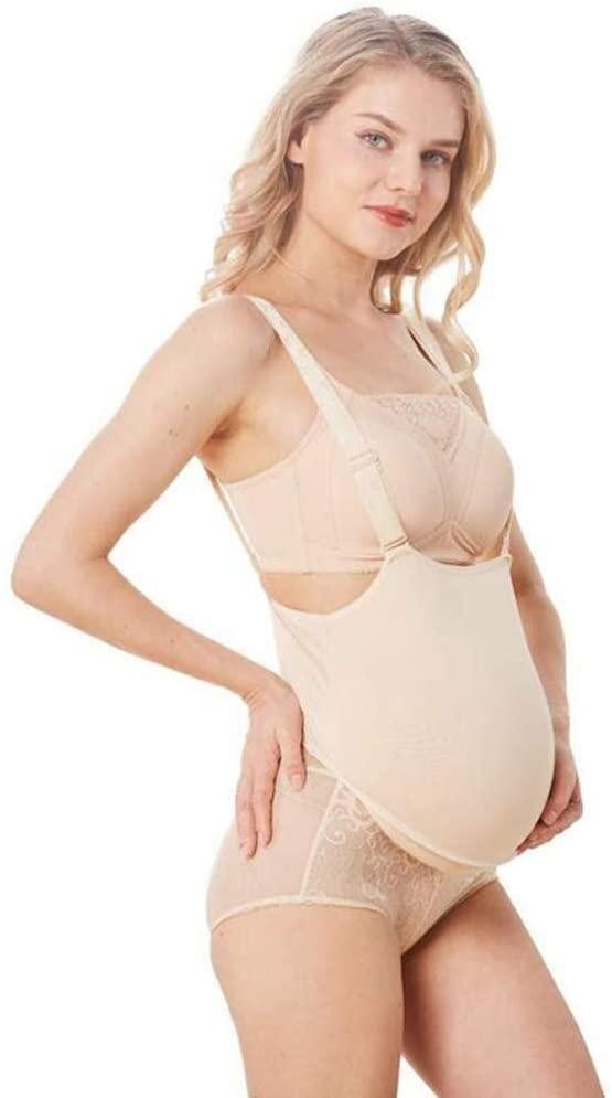 LAMZ Fake Silicone False Belly 8-10 Month Silicone Pregnant Belly Bump Artificial Pregnancy Bump 0829