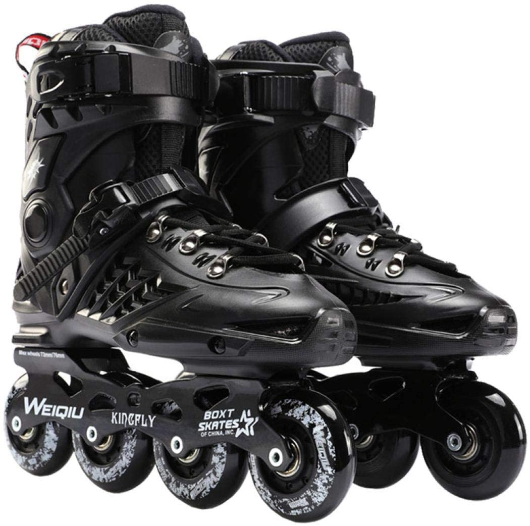 Mens and Womens Roller Skates Iinline Rroller Skates Classic Black and White Roller Skates Safety Buckle for Boys and Girls