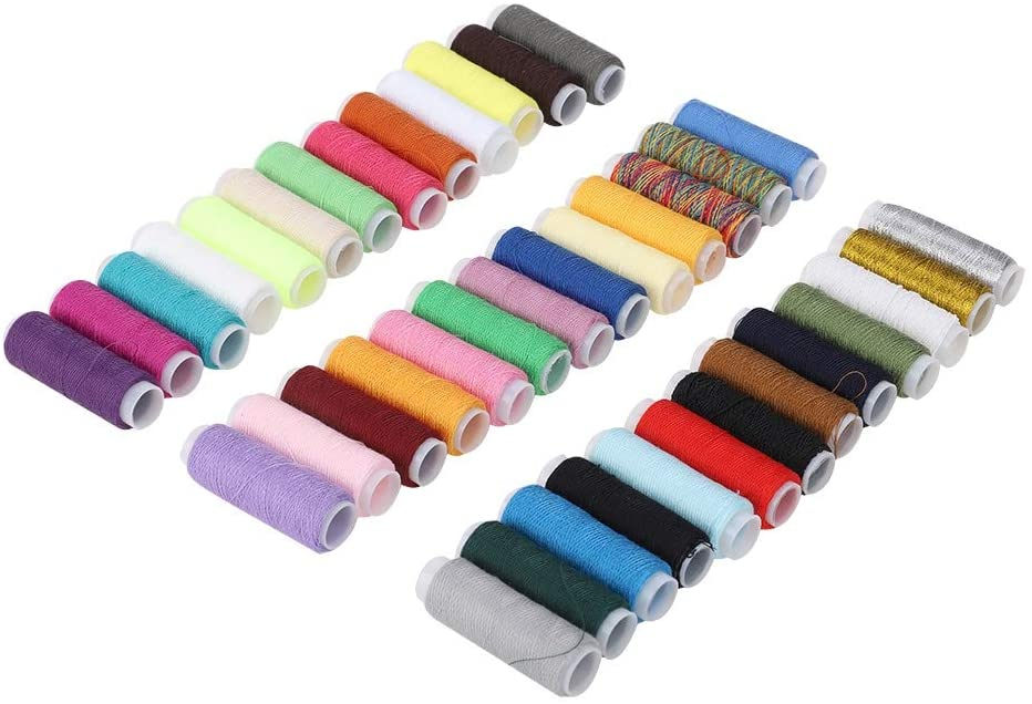 39 Colors Sewing Thread Cord Cloth String Spool for DIY Beading Jewelry Bracelet