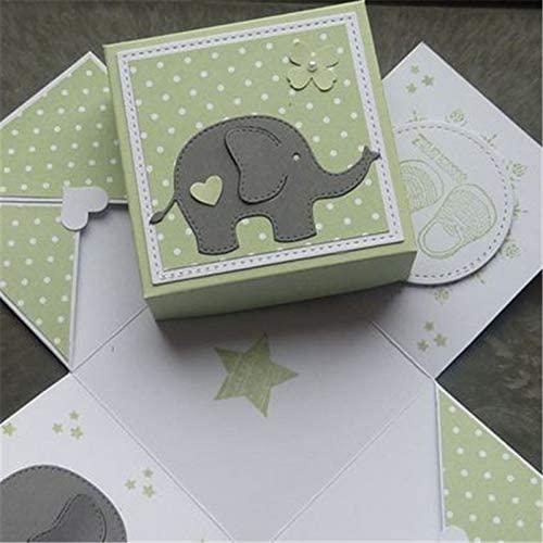 Elephant Animal Cutting Dies,Letmefun Metal Cutting Dies New 2019 for Craft Dies Scrapbooking DIY Album Embossing Paper Die Cut Decoration