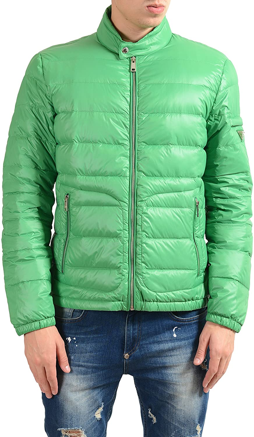 Prada Men's Green Full Zip Down Light Parka Jacket US L IT 52