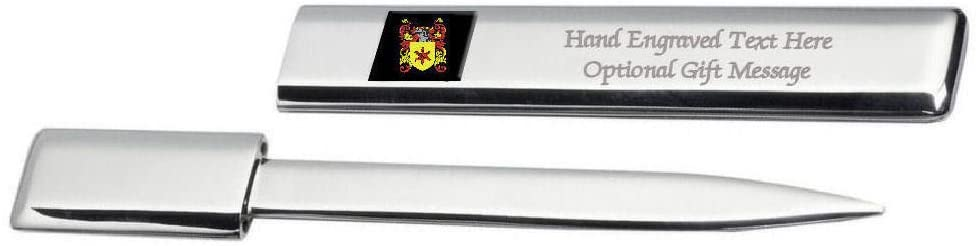 Air Family Crest Surname Coat Of Arms Heraldry Engraved Letter Opener
