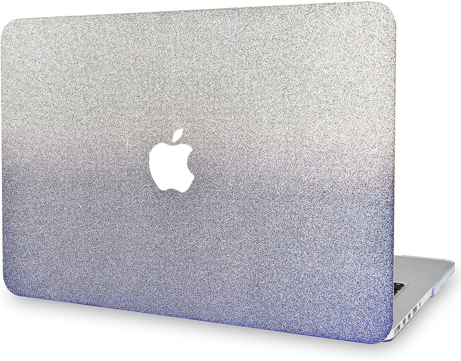 KECC Laptop Case for MacBook Air 13 Plastic Case Hard Shell Cover A1466/A1369 (Silver Blue Sparkling)