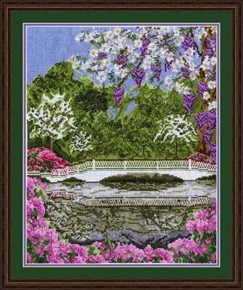 Pegasus Originals Magnolia Bridge Counted Cross Stitch Chart