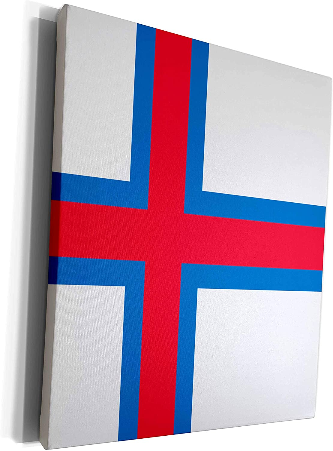 3dRose InspirationzStore Flags - Flag of the Faroe Islands - Faroese - Danish white red blue offset Scandinavian Nordic cross country - Museum Grade Canvas Wrap (cw_159802_1)
