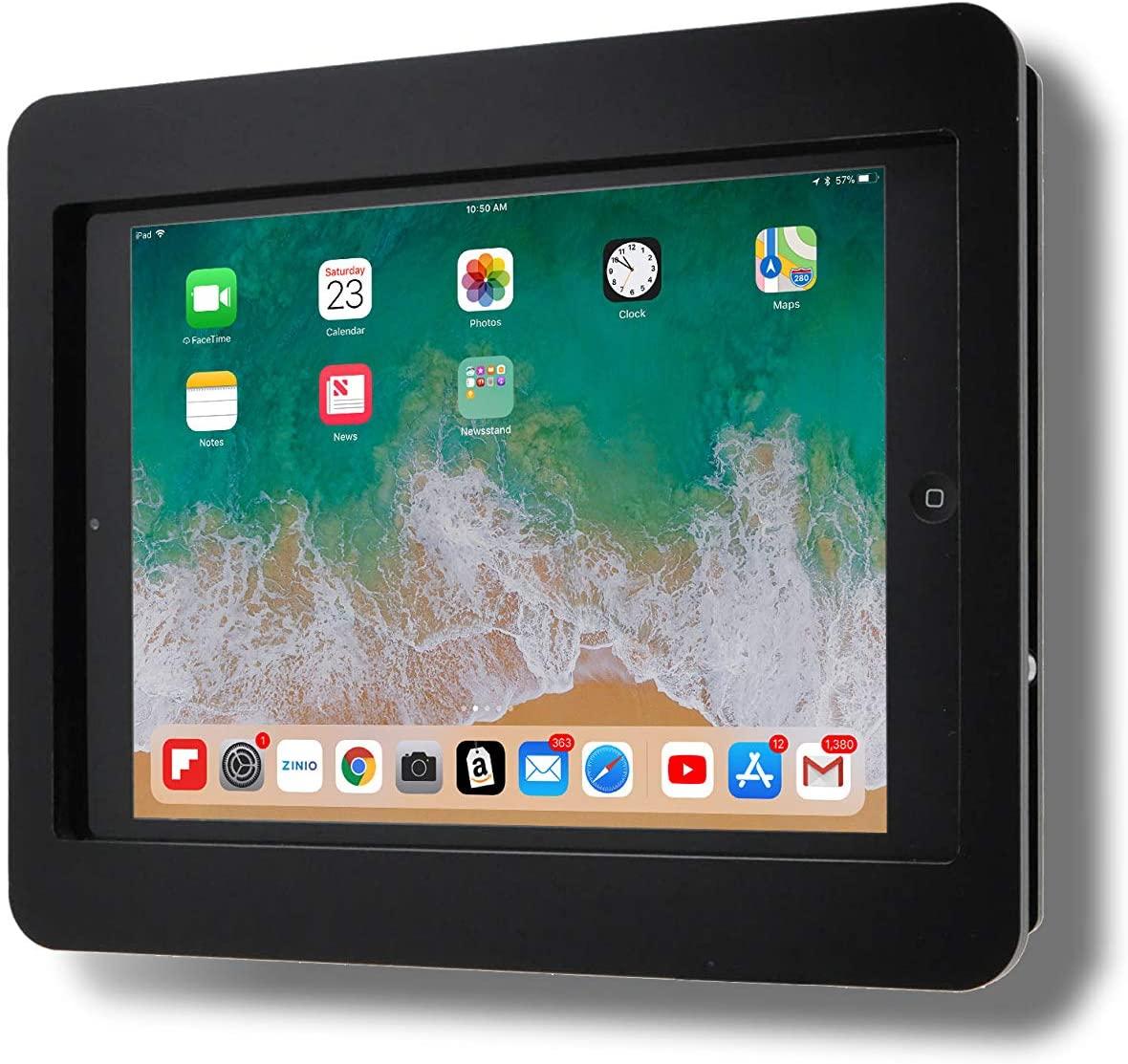 TABcare Anti-Theft Acrylic VESA Enclosure for Apple iPad Mini 4/5 with Free Wall Mount Kit & 90-Degree Angle Charge Cable (iPad Mini 4/5 8