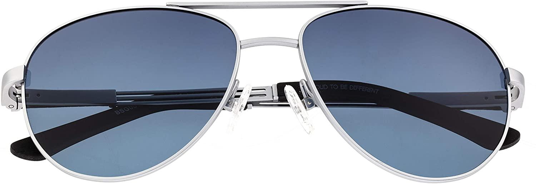 Breed Leo Titanium Polarized Sunglasses - Silver/Blue
