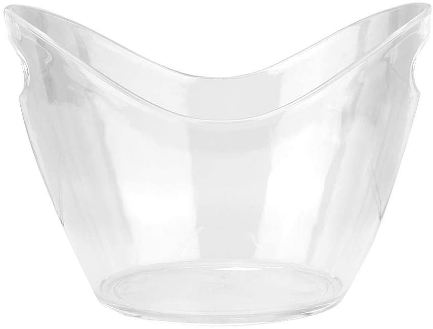Rockyin Acrylic Ice Container Champagne Ice Bucket with Handle Bar KTV Supplies