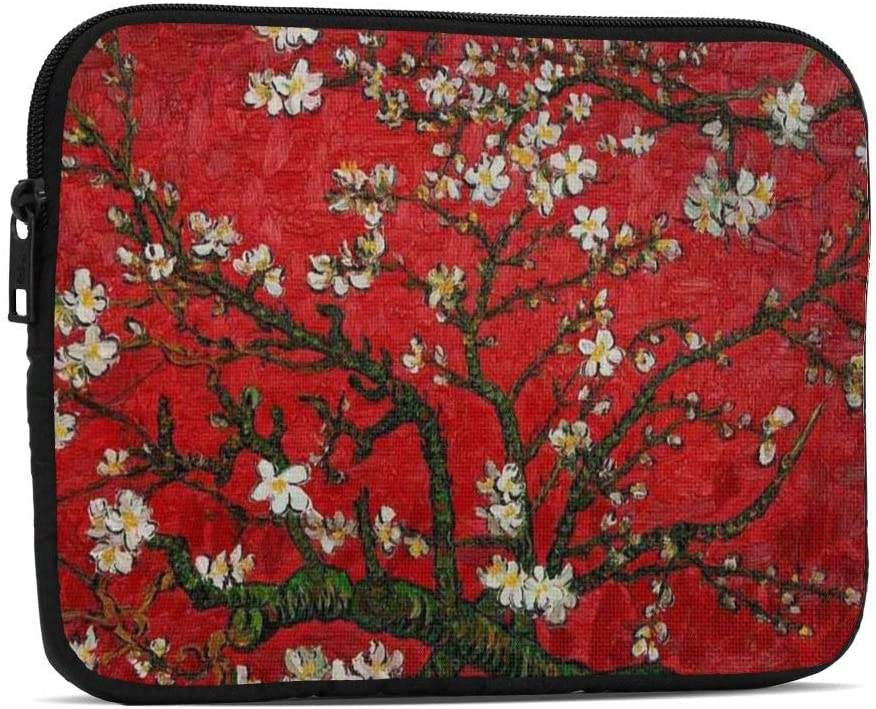 Apricot Flower Red Tablet Sleeve Case 7.9