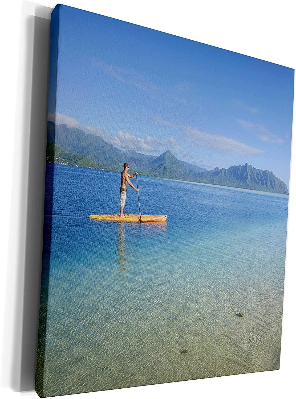 3dRose Danita Delimont - Hawaii - Sandbar, Kaneohe Bay, Oahu, Hawaii - Museum Grade Canvas Wrap (cw_230689_1)