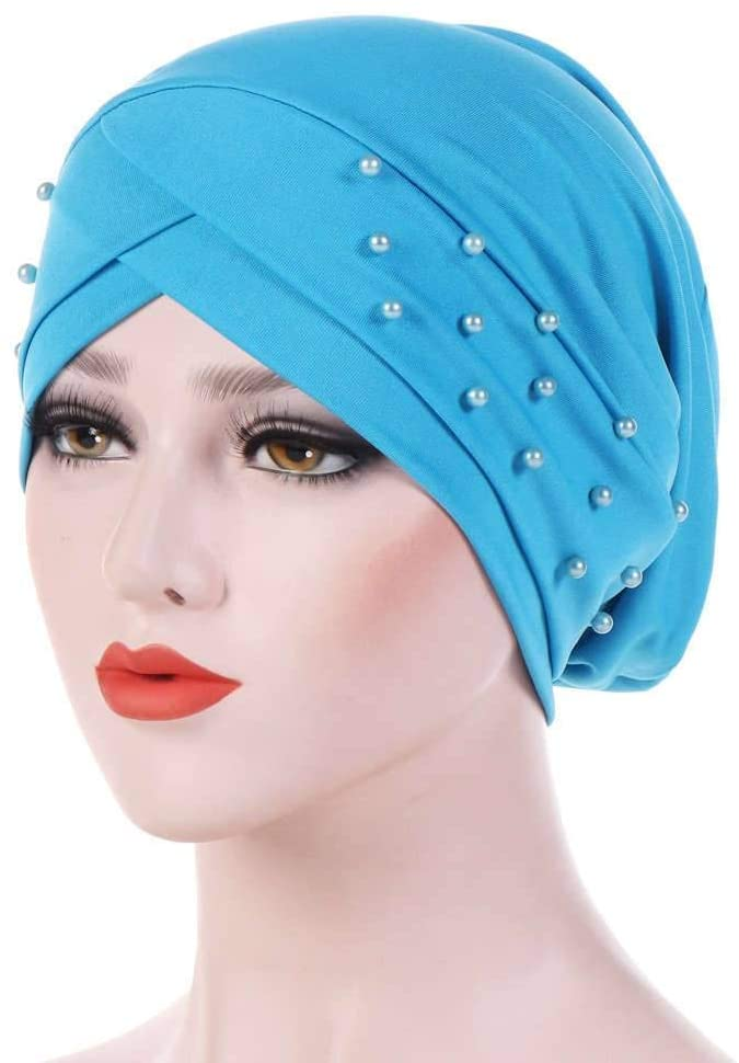Nonebrand Visors Elastic Fabric,Forehead Cross Scarf Hat