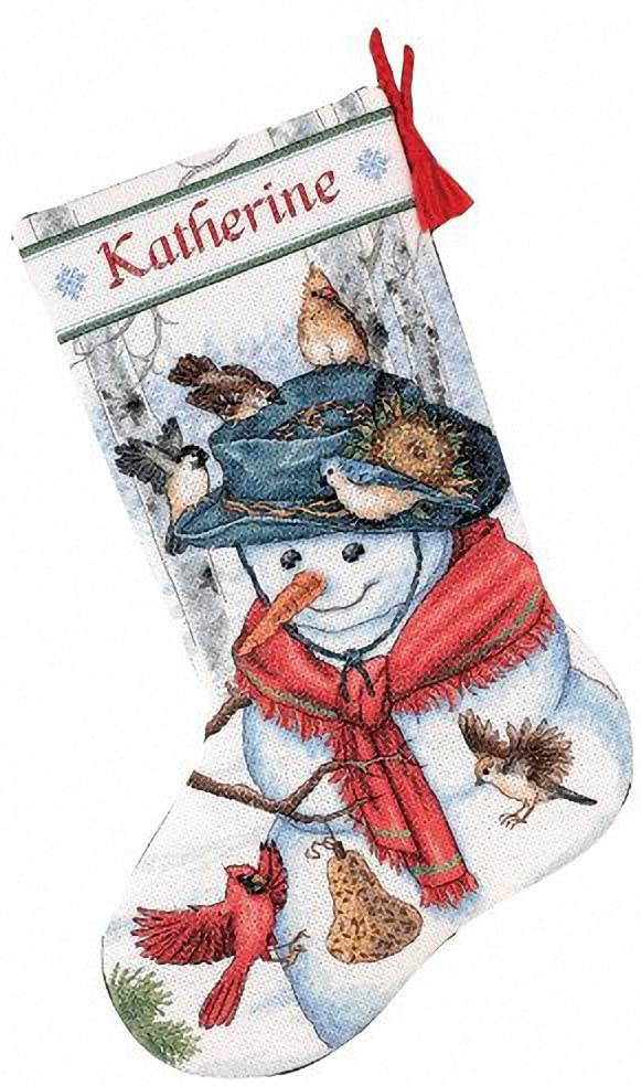 Dimensions Needlecrafts Counted Cross Stitch, Emma's Friends Stocking