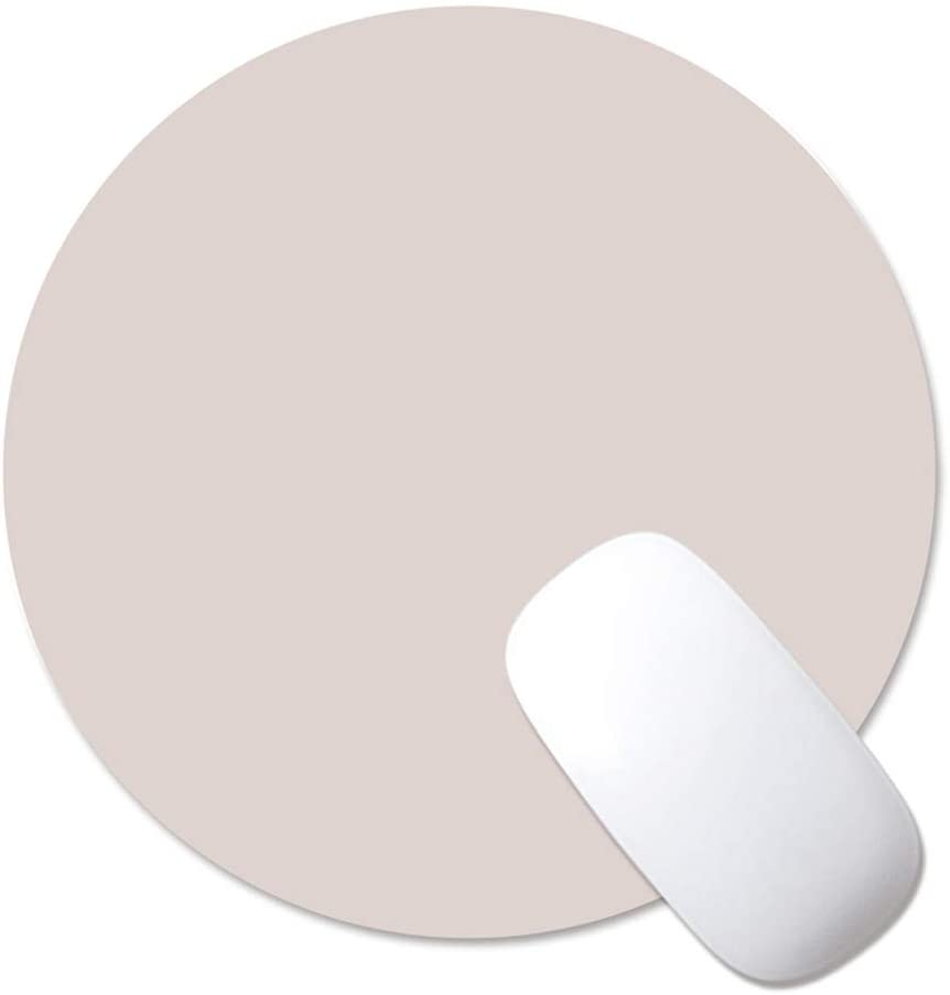 ProElife Premium Slim Round Mouse Pad PU Leather Mousepad for Magic Mouse Surface Mouse and Wired/Wireless Bluetooth Mouse (Gray/Silver), Dual-used Noiseless Non-slip Mouse Pad