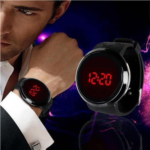 wakatobi Fashion Men's Digital LED Touch Screen Dial Sport Silicone Wrist Watch Black