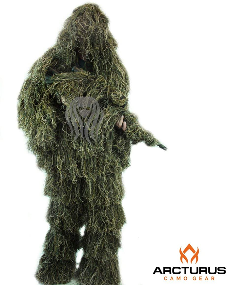 Arcturus Ghost Ghillie Suit for Men   Dense, Double-Stitched Design   Superior Camo Hunting Clothes for Men, Hunters, Military, Sniper Airsoft and Paintball