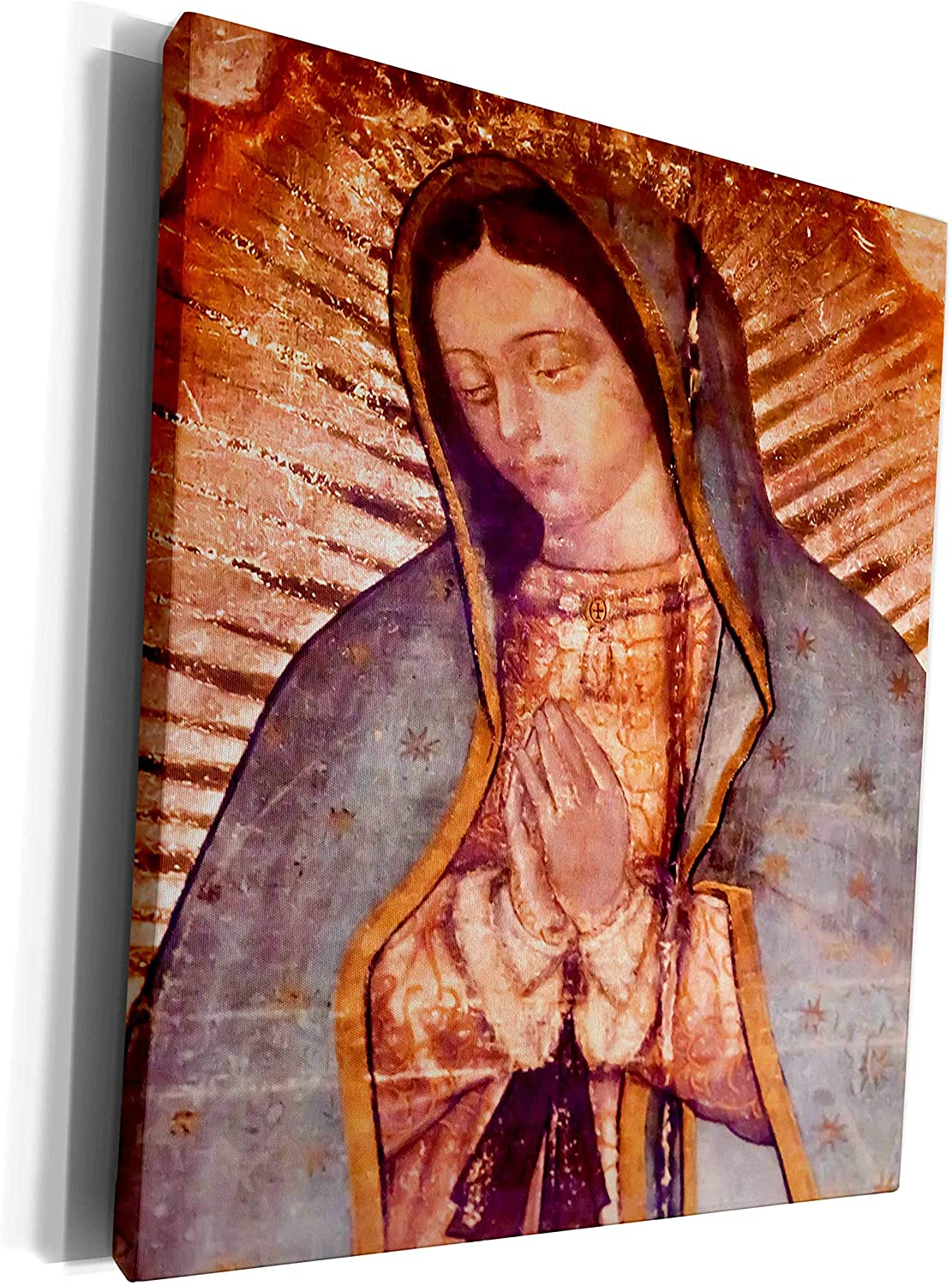 3dRose cw_258540_1 Virgin Mary Painting, New Shrine of The Guadalupe, Mexico-Museum Grave Canvas, 16 by 20-inch, Multicolor