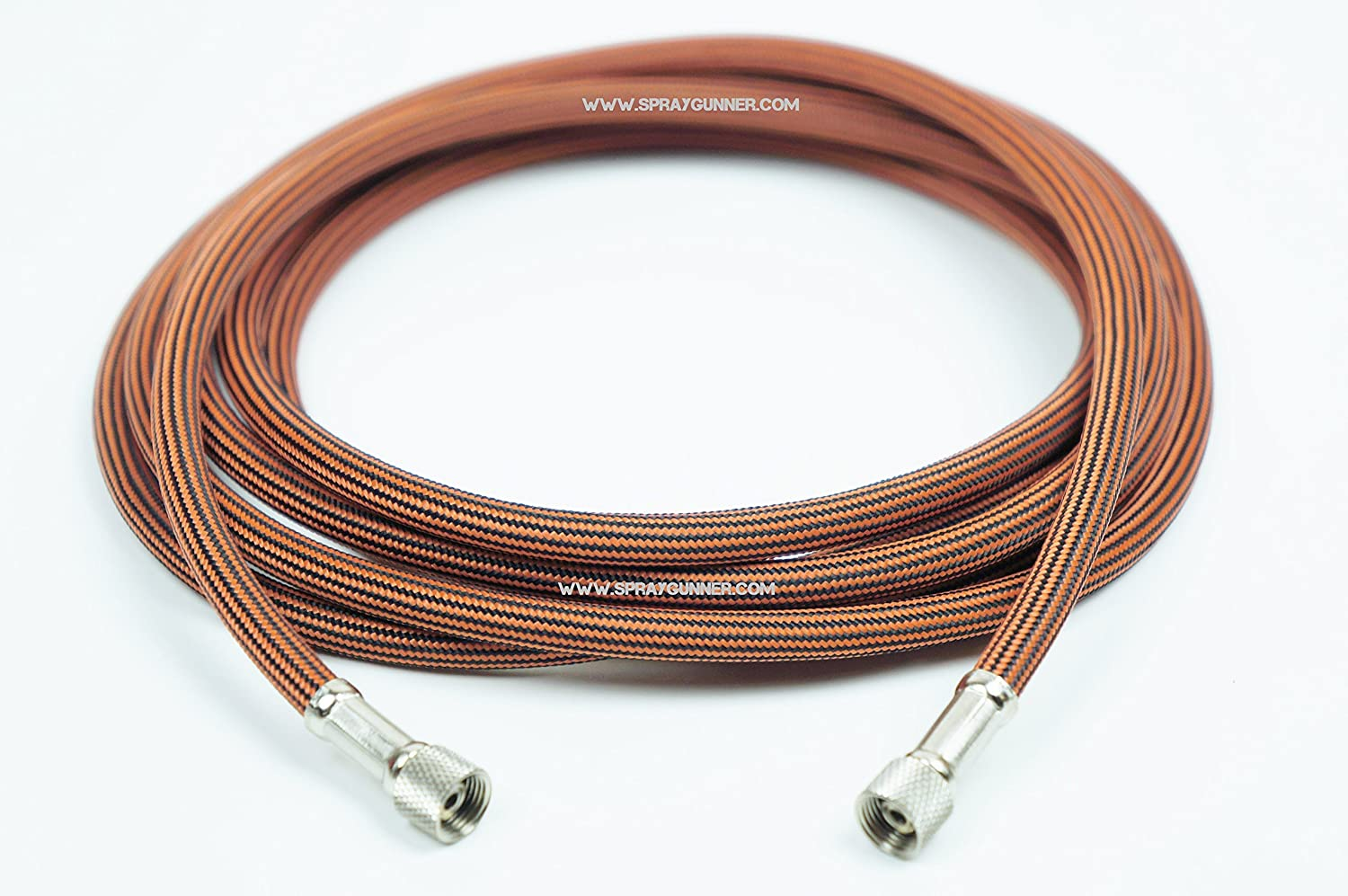 Sparmax braided air hose 1/8-1/8 10ft. For airbrush to compressor connection. by SprayGunner