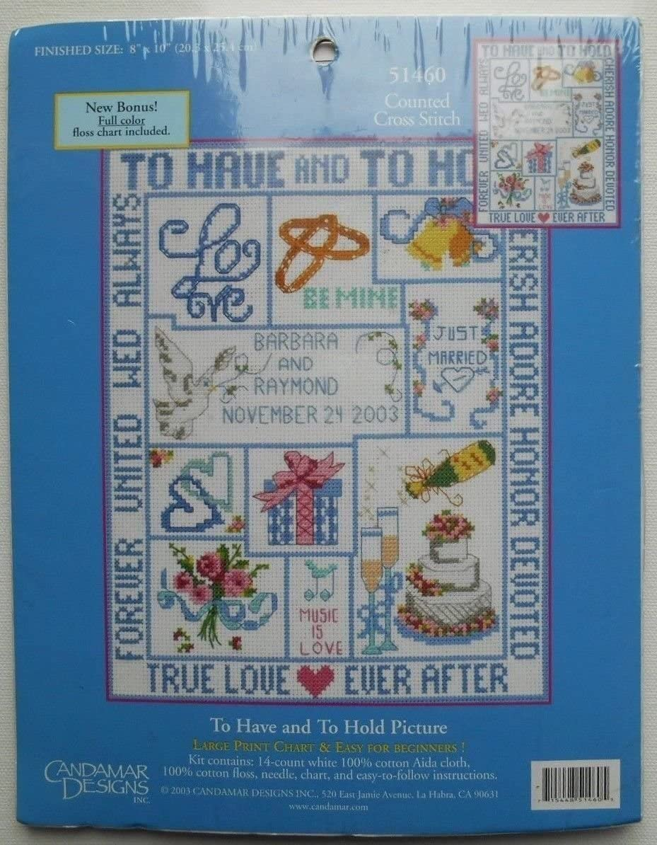 To Have and To Hold Picture Counted Cross Stitch Kit #51460