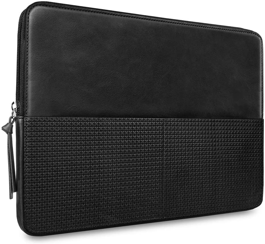 CAISON Genuine Leather Laptop Case Sleeve for 12.3 inch Microsoft Surface Pro 7 / Surface Pro 6/2019 New 13