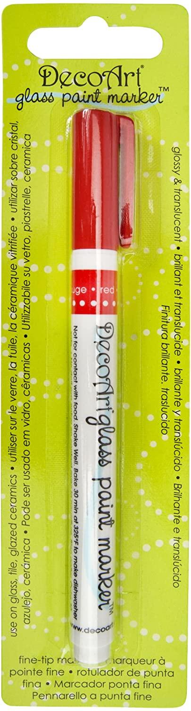 DecoArt DGPM05-K Glass Paint Marker, Red