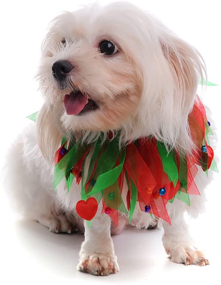 MaruPet Halloween Christmas Jingle Bells Decorative Fancy Collar Dog Costume by Midlee