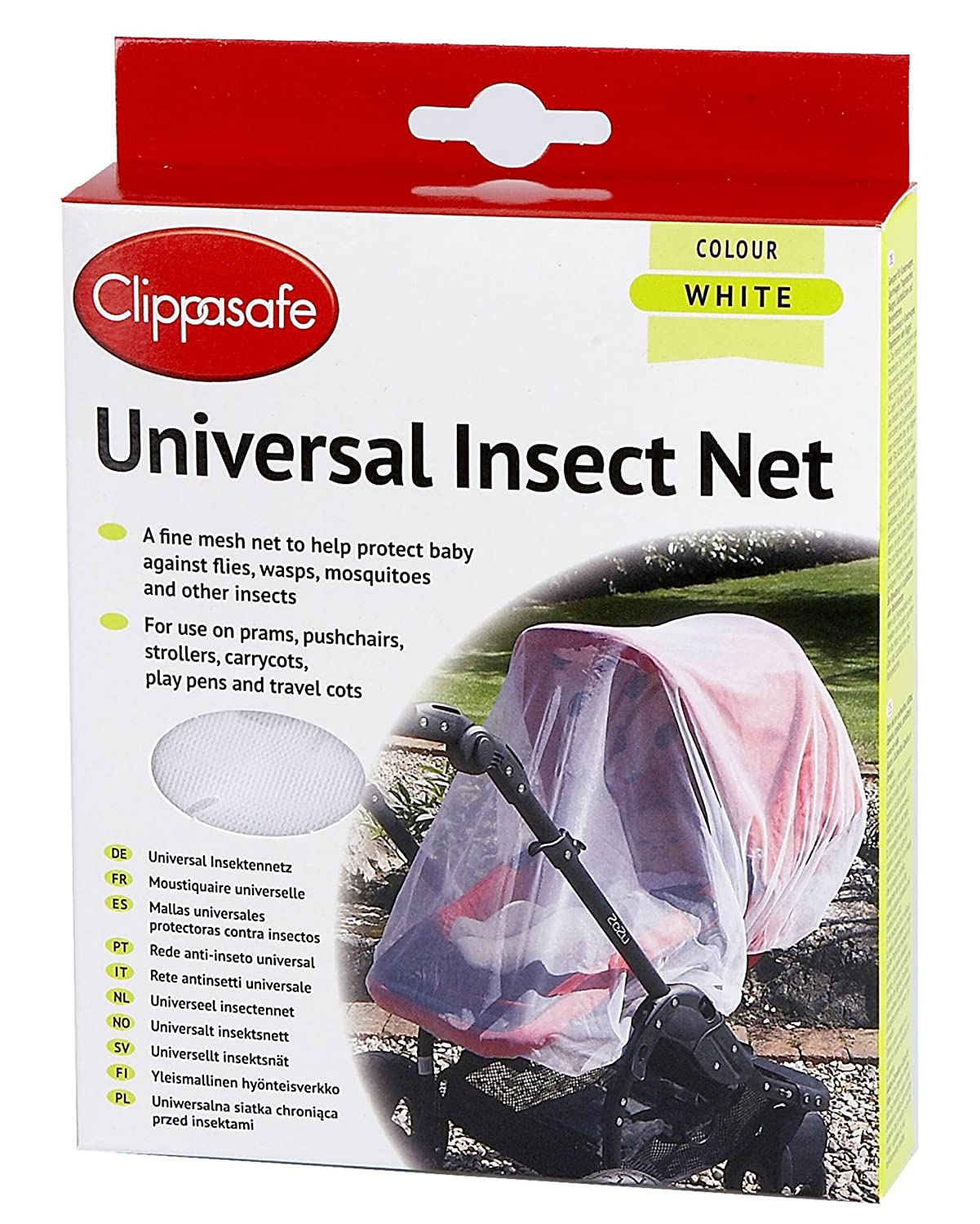 Clippasafe Pram & Pushchair Universal Insect Net One Size
