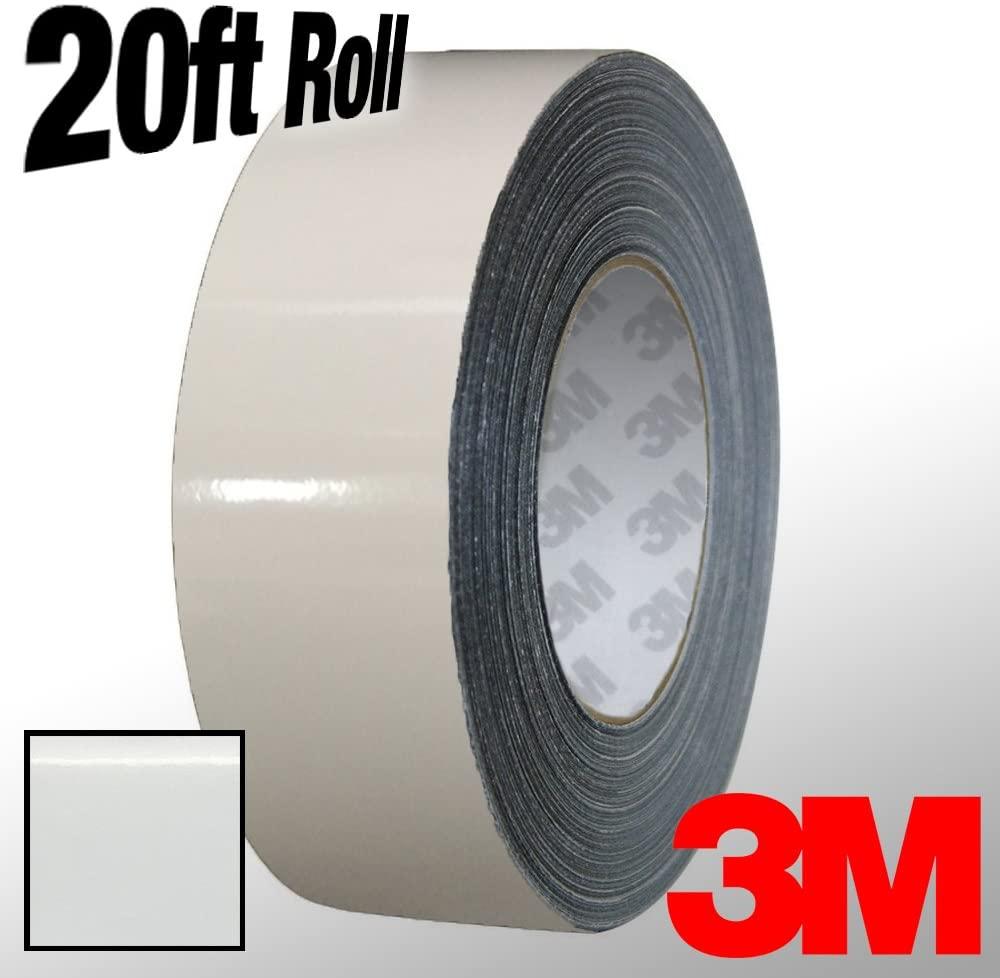 VViViD 3M 1080 White Gloss Vinyl Detailing Wrap Pinstriping Tape 20ft Roll (4 Inch x 20ft)