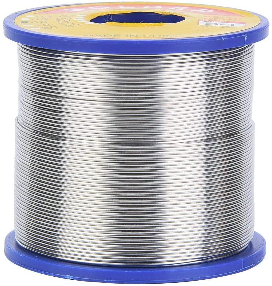 60/40 Soldering Wire,Premium 0.6~1mm 2% Flux Tin Lead,Rosin Core Soldering Reel for Welding Parts(0.8mm)