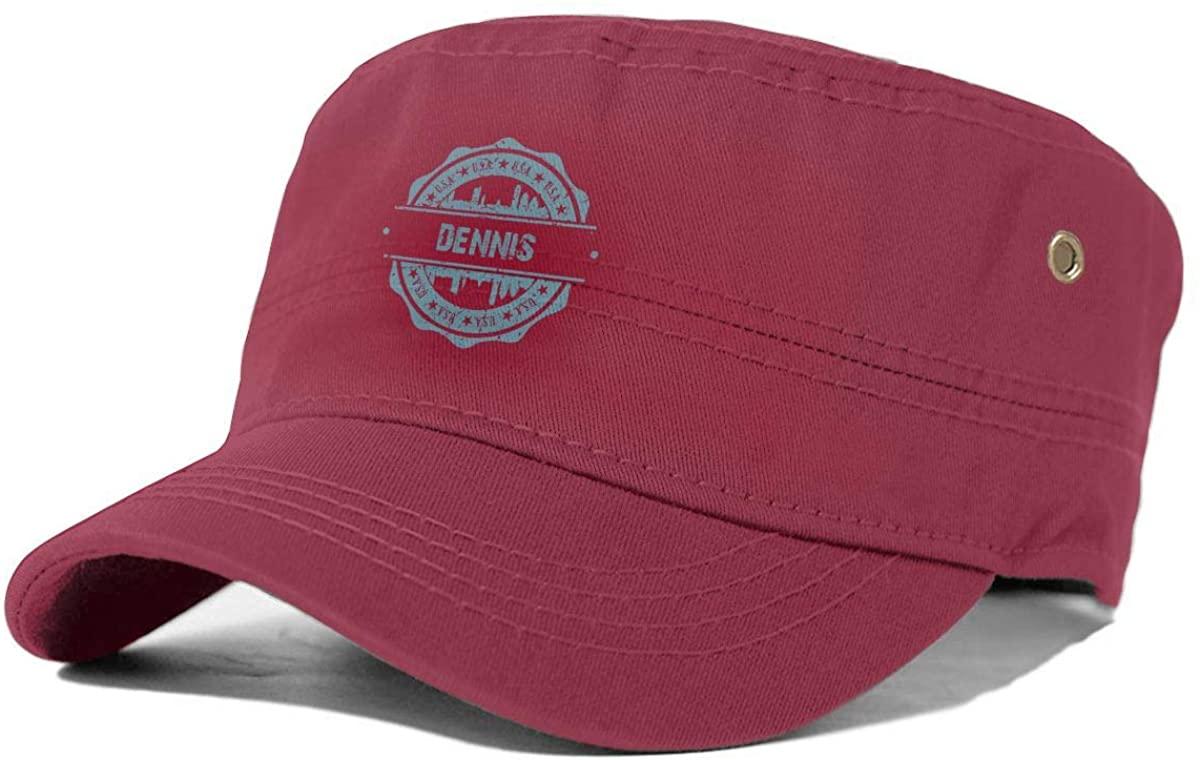 X-JUSEN Men's Dennis Massachusetts Flat Cap, Ivy Newsboy Collection Hat, Cotton Beret Cap, Irish Hat Red