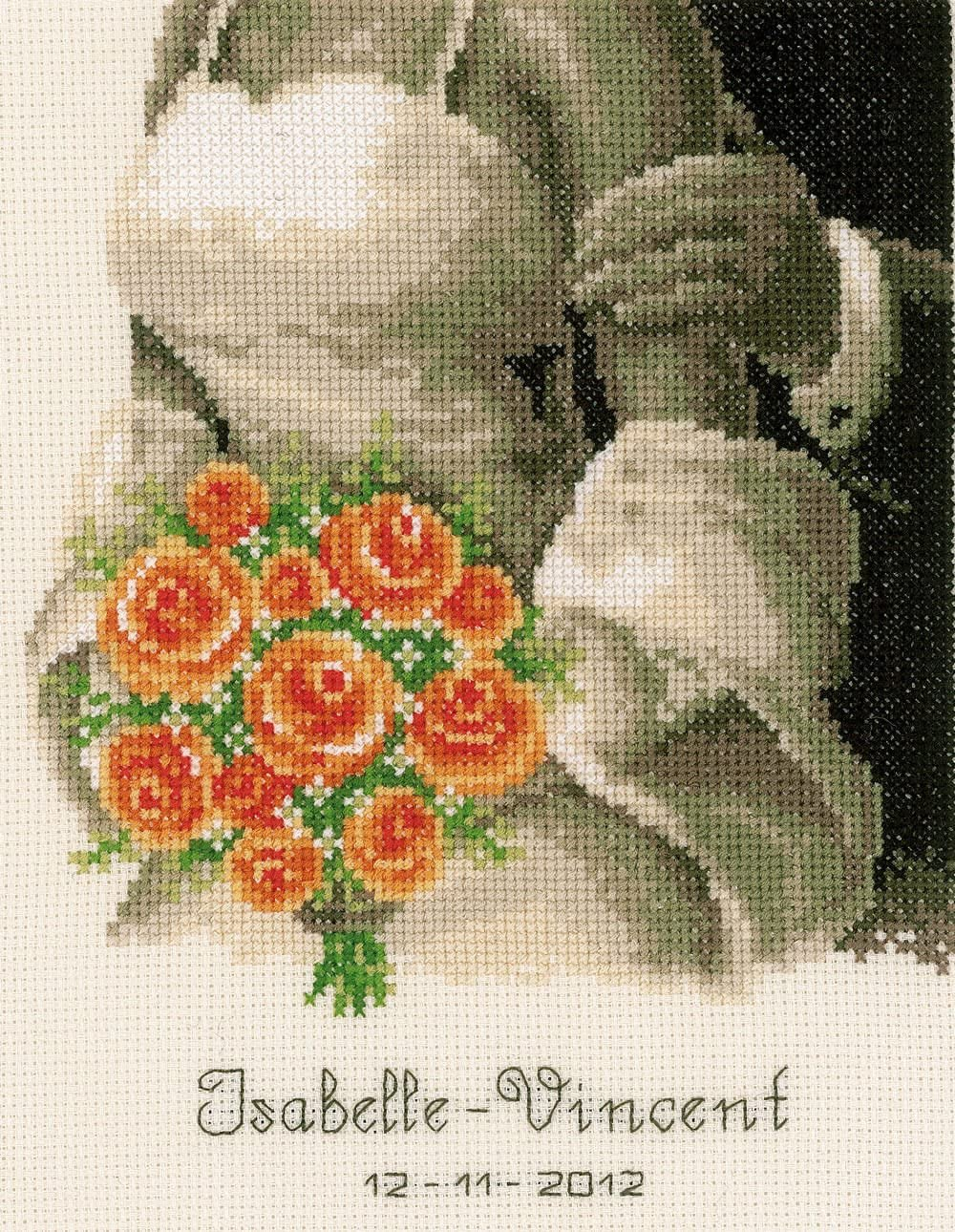 Vervaco 2002/75.355   The Bouquet Wedding Record Counted Cross Stitch Kit