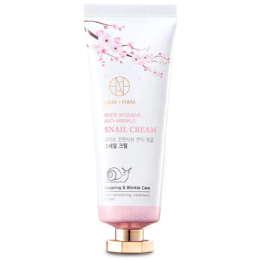 Korean Hanixhani Anti Aging Snail Repair Cream Moisturizer Day and Night Deep Hydrating Wrinkle Cream - Snail Mucin Extract Recover Rejuvenate Skin 70 g - 2.47 Ounce